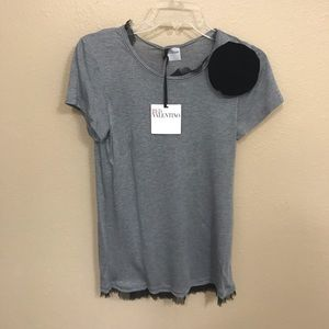 NWT Red Valentino Small Gray & Black Shirt